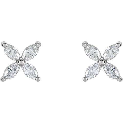 5/8 CTW Diamond Cluster Earrings - Moijey Fine Jewelry and Diamonds