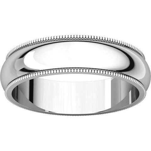 Milgrain Comfort-Fit Band - Moijey Fine Jewelry and Diamonds