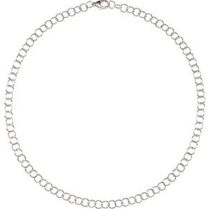 silver link chain | sterling silver chain | sterling silver link chain