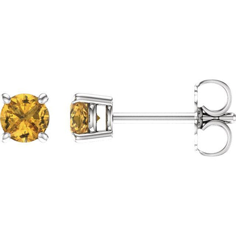 yellow sapphire earrings | yellow sapphire stud earrings | sapphire stud earrings yellow gold