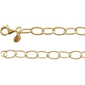 "24K Yellow Vermeil 6mm Knurled Cable 24"" Chain - Moijey Fine Jewelry and Diamonds"