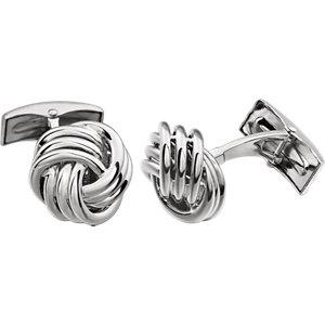 Knot Cuff-Links for Men | Gold Knot Men's Cuff-Links | White Gold Cuff-Links