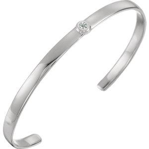 "Sterling Silver 1/10 CTW Diamond 8"" Cuff Bracelet - Moijey Fine Jewelry and Diamonds"