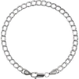 "Sterling Silver 4mm Solid Charm 7"" Bracelet - Moijey Fine Jewelry and Diamonds"