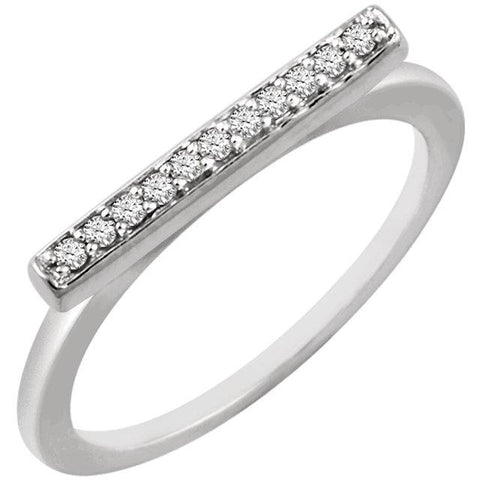 Diamond Bar Ring - Moijey Fine Jewelry and Diamonds