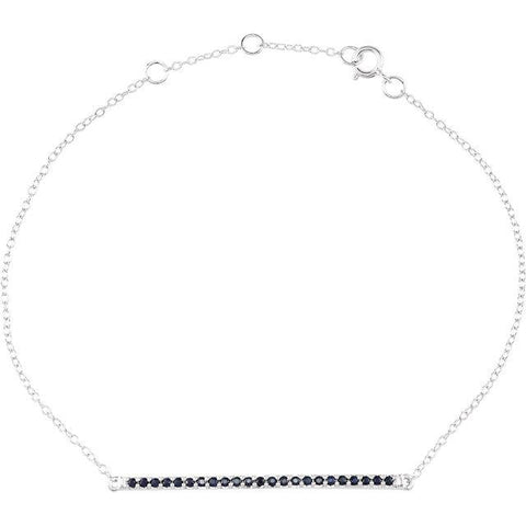 8-Inch 14K White Gold & Blue Sapphire Bracelet - Moijey Fine Jewelry and Diamonds