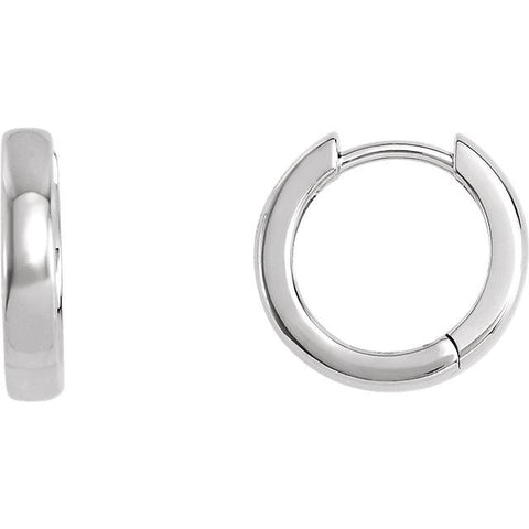 14 mm Hinged Hoop Earrings - Moijey Fine Jewelry and Diamonds