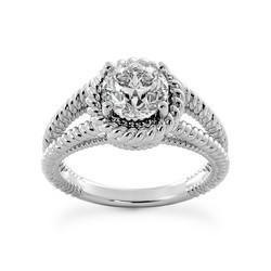 Twisted Rope Solitaire Engagement Ring Setting