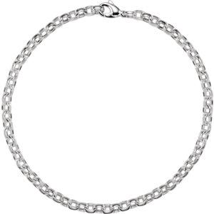 "Sterling Silver 6.75mm Flat Cable 18"" Chain - Moijey Fine Jewelry and Diamonds"