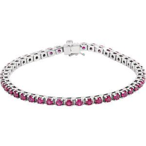 Ruby Line Bracelet - Moijey Fine Jewelry and Diamonds