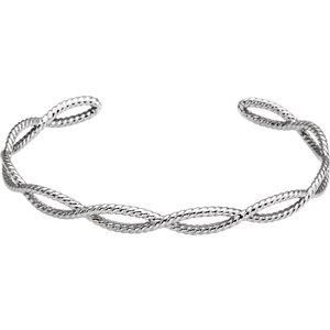 Sterling Silver Rope Cuff Bracelet - Moijey Fine Jewelry and Diamonds