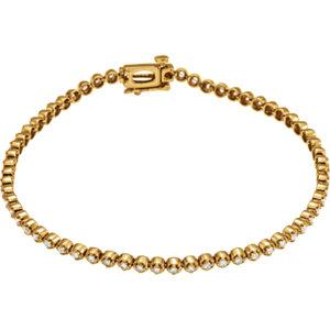 14K Yellow 1 CTW Diamond Line Bracelet - Moijey Fine Jewelry and Diamonds