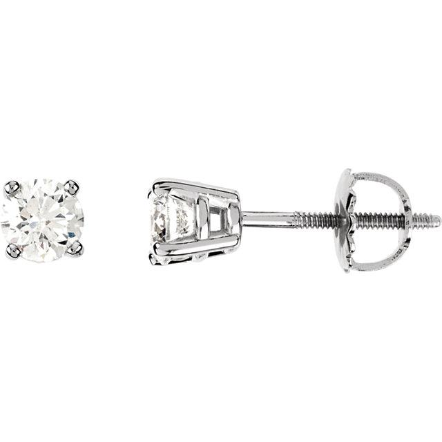 1/2 CTW Diamond Earrings