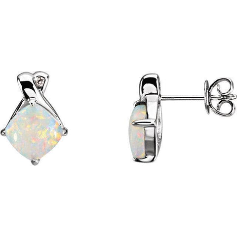 opal and diamond earrings | opal and diamond earrings white gold | white gold opal and diamond earring
