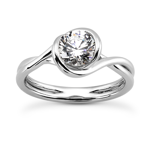 Ribbon Solitaire Engagement Ring Setting - Moijey Fine Jewelry and Diamonds