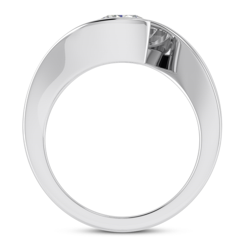 Bypass Tension Engagement Ring Setting - Moijey Fine Jewelry and Diamonds