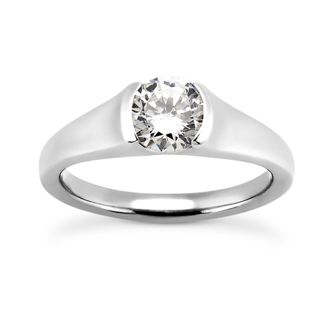 Modern Cathedral Engagement Ring Setting - Moijey Fine Jewelry and Diamonds