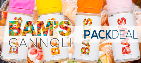 Bam's Cannoli 4 Pack Deal Premium E-Liquid | Vape Bundle