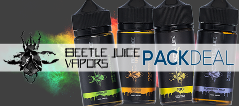 Beetle Juice Vapors 4-Pack Deal Premium E-Liquid | Vape eJuice