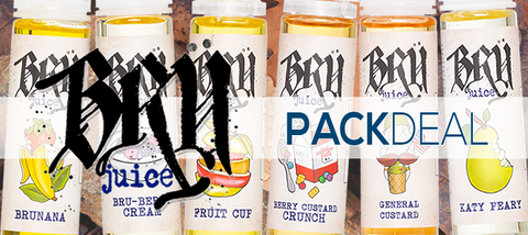 Bru Juice Pack Deals Premium E-Liquid | Vape eJuice Bundle