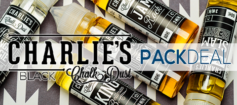 Charlie's Chalk Dust Black 4-Pack Deal Vape Juice eJuice Direct