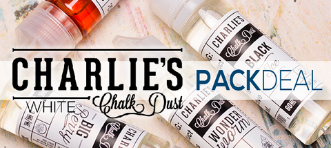 Charlie's Chalk Dust White Premium Vape Juice eJuice Direct
