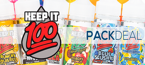 Keep It 100 Pack Deals Premium E-Liquid | Bundled Vape Pack