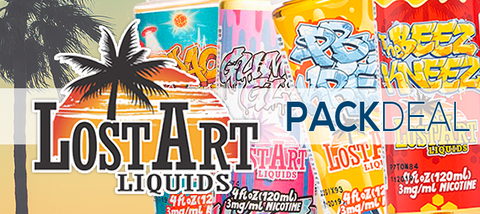 Lost Art Liquids Pack Deals | Vape eJuice | E-Liquid Bundles
