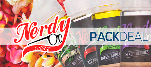 Nerdy E-Liquids Pack Deals Premium Vape Juice | eJuice Direct