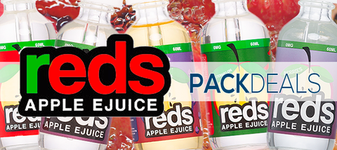 Reds Apple eJuice Iced by 7Daze 3 pack deal Premium Vape Juice eJuice Direct
