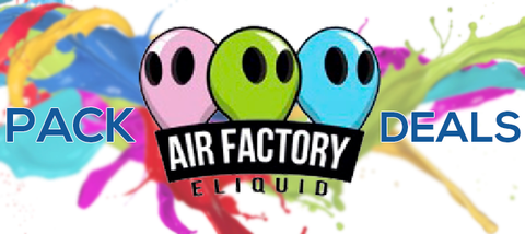 Air Factory Pack Deal 100ml Premium eliquid | ejuice direct | Vape juice