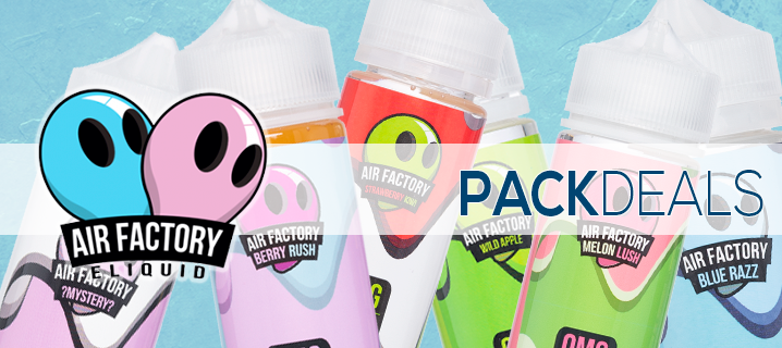 Air Factory E-liquid Pack Deals | Premium E-Liquid | Vape eJuice
