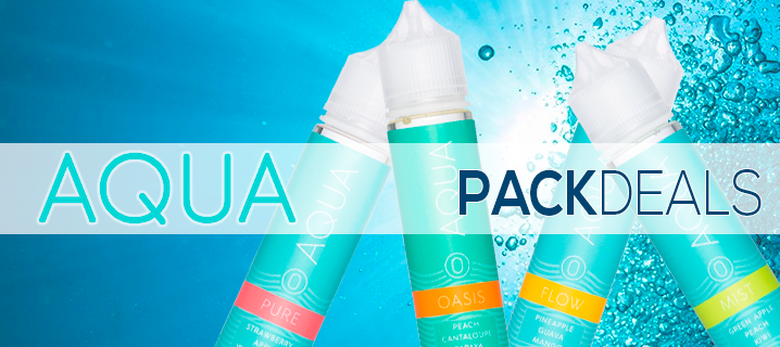 Aqua by Marina Vape 4-Pack Deal Premium eLiquid | Vape Bundle