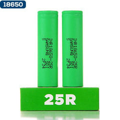 Samsung 25R green 18650 2500mAh battery ejuice direct batteries