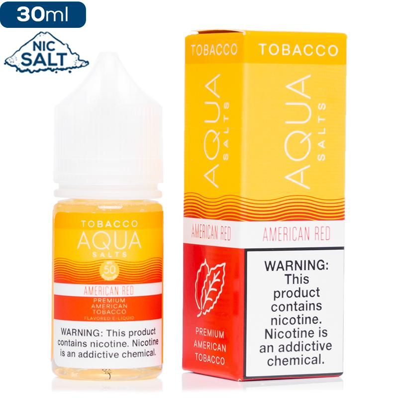 Aqua Tobacco Salt - American Red Nic Salt eJuice Aqua-Tobacco