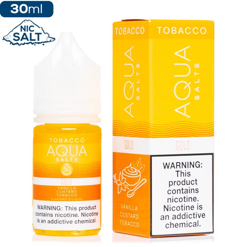 Aqua Tobacco Salt - Gold Nic Salt eJuice Aqua-Tobacco