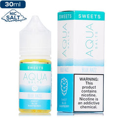Aqua Salts Blue Razz by Marina Vape Nic Salt Vape Juice