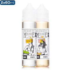 Meringue & The Family Aunt & Uncle 2 Pack Premium Vape Juice Bundle eJuice Direct
