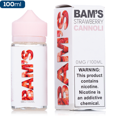 Bam's Cannoli Strawberry Premium E-Liquid | Vape eJuice