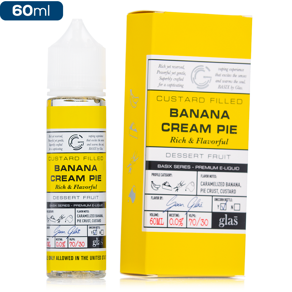 Basix by Glas Banana Cream Pie E-Liquid | Vape eJuice
