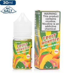 Fruit Monster Salt - Mango Peach Guava Nic Salt eJuice Jam Monster-Fruit Monster