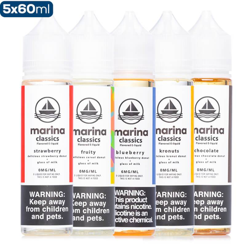 Marina Classics Donut 5 Pack Premium Vape Juice Bundle eJuice Direct