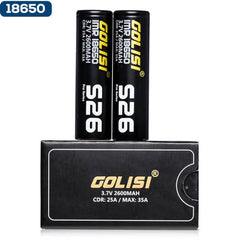 Golisi S26 18650 Batteries 2-Pack with Case - buy-ejuice-direct