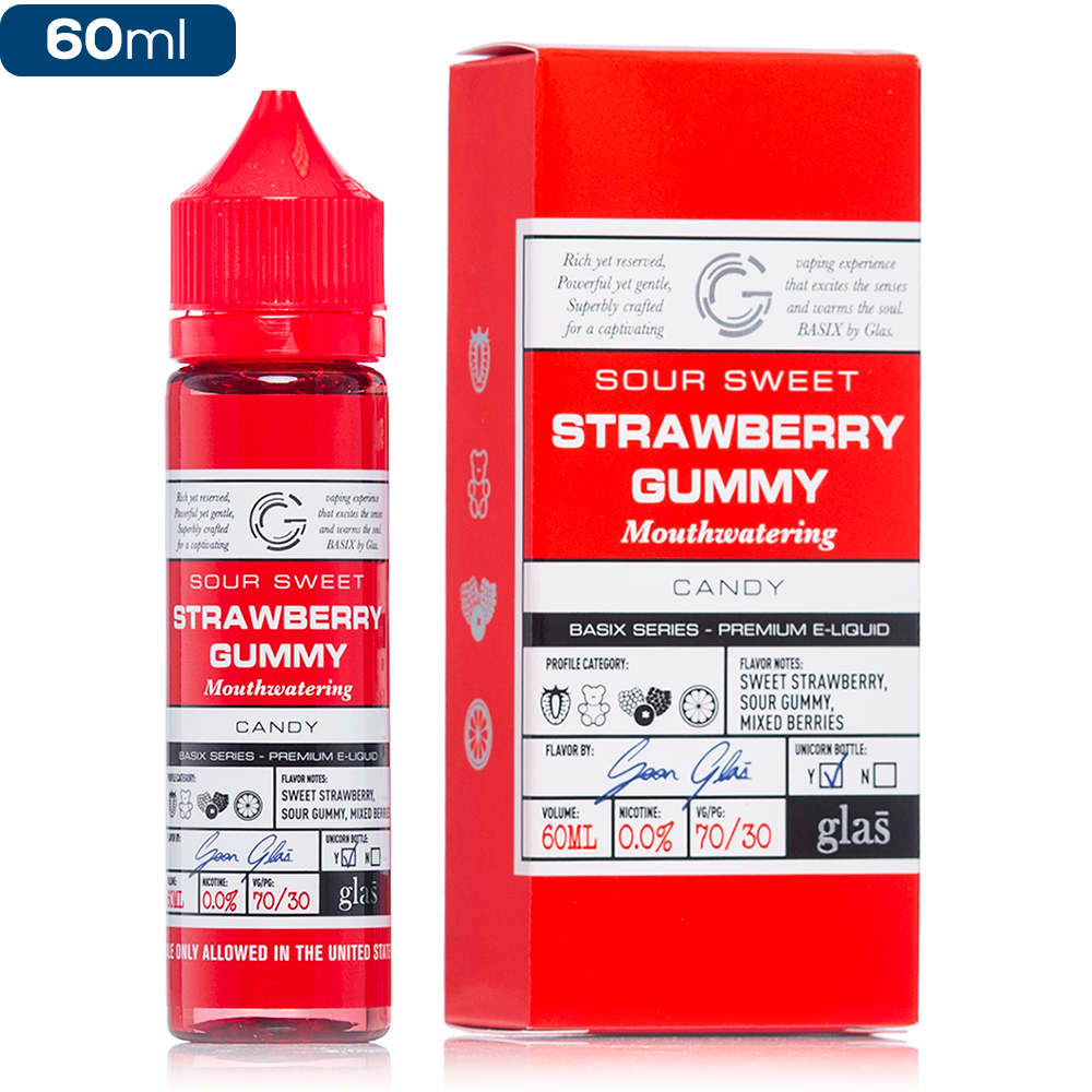Glas Basix Series Strawberry Gummy E-Liquid - buy-ejuice-direct