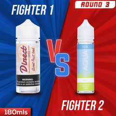 Us vs. Them - Direct Juice Sweet Fruit Iced Vs Aqua Ice Pure eJuice Showdown