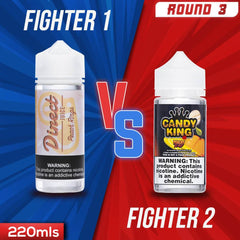 Us vs. Them - Direct Juice Peach Rings vs. Candy King Peachy Rings eJuice Showdown