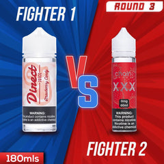 Us vs. Them - Direct Juice Strawberry Candy vs. Chain Vapez XXX eJuice Showdown