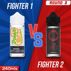 Us vs. Them - Direct Juice Tropical Blast vs. Cravve Red eJuice Showdown