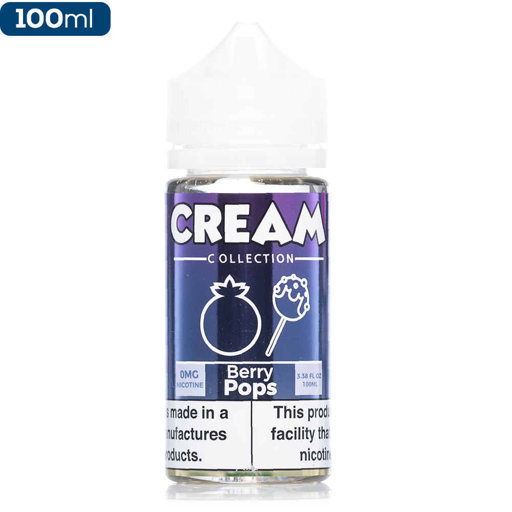 Cream Collection by Vape 100 Berry Pops Premium Vape Juice eJuice Direct
