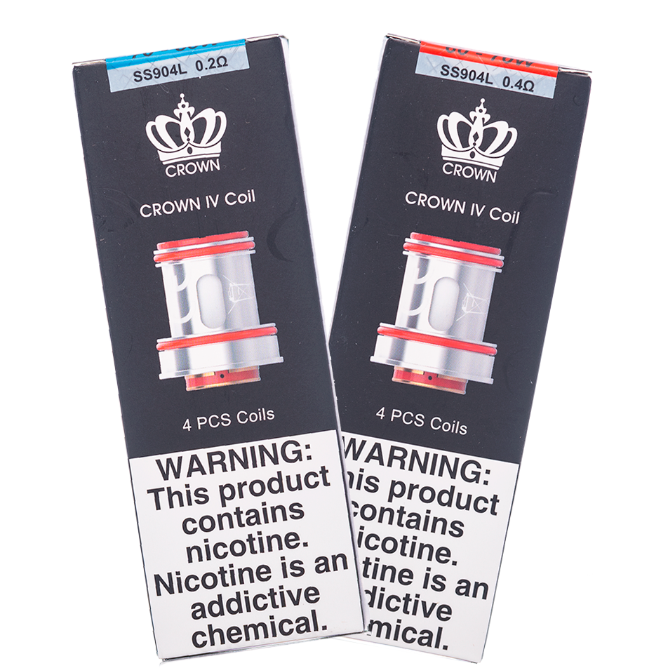 Uwell - Crown IV Stainless Steel 0.2ohm/0.4ohm Coils - buy-ejuice-direct